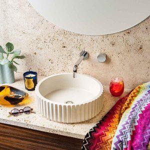 White Doric Concrete Basin