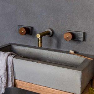 Wood Melbourne Maddie Concrete Basin